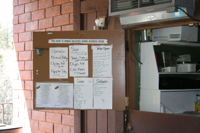The back entrance of Gary's Deli, where customers place their orders. Patrons must enter through Sky Island, go to the back and onto the back deck to get to Gary's Deli during construction. Photo by Marshall Smith