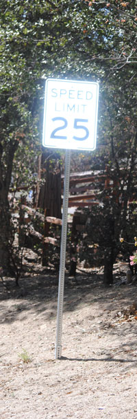 25 mph speed limit signs will be posted along Doubleview Drive. Photo by J.P. Crumrine