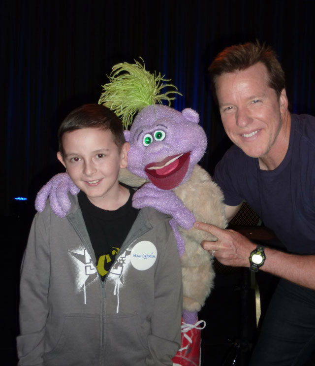James Bachmann is pictured here with his ventriloquist idol Jeff Dunham. Meeting Dunham was James' Make a Wish come true. Photo courtesy Kristen Bachmann