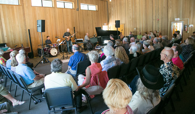 Stephens Recital Hall at Idyllwild Arts was full Sunday afternoon during the Barnaby Finch and Friends concert. The concert and brunch, held earlier in the day, was a benefit to raise funds for the Idyllwild Arts Scholarship Fund.