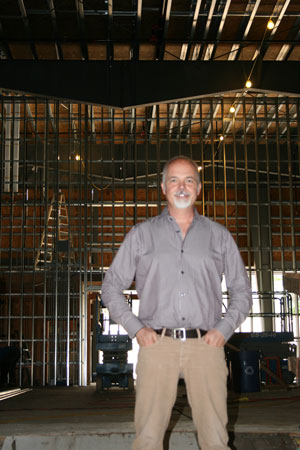 Idyllwild Arts Head of School Doug Ashcraft stands in the William M. Lowman Concert Hall. The hall will open in the fall. Photo by Marshall Smith