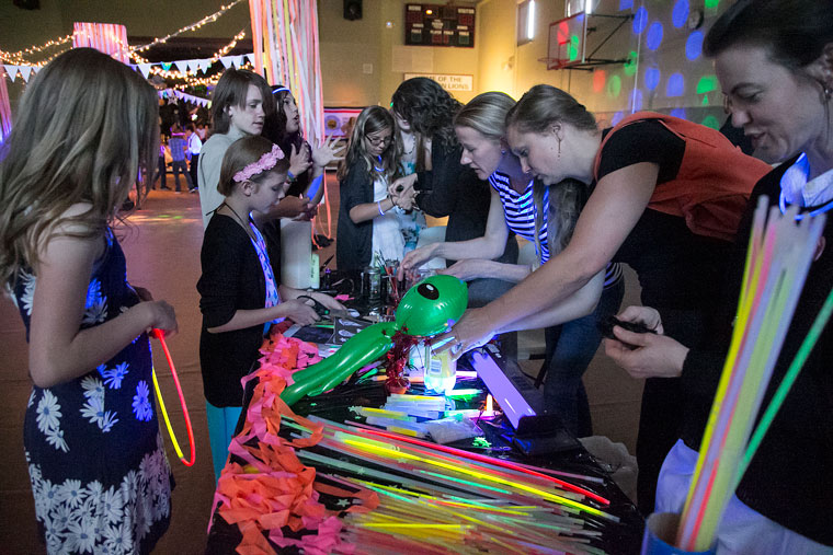 Glow sticks and face painting also were available at the middle-school dance.