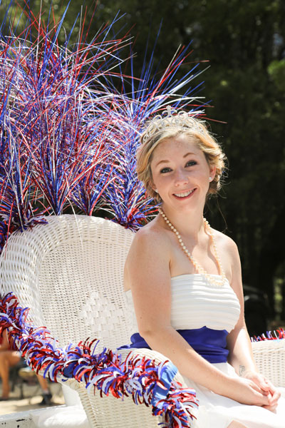 Pine Cove Princess Jessica Swanlund proudly rides the Pine Cove Property Owners Association's float during the annual Fourth of July Parade. Photo by Cheryl Bayse