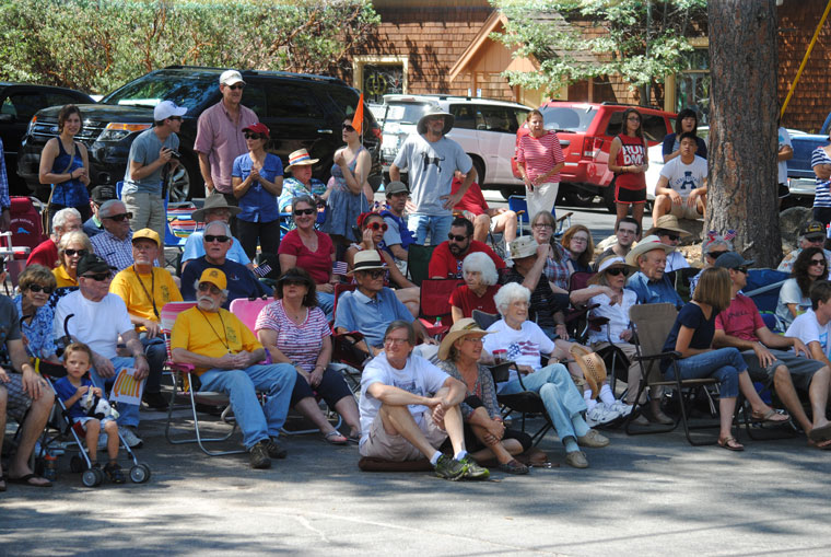 One of the largest crowds watched with excitement and joy as Idyllwild's annual Fourth of July passed their vantage spots. Photo by J.P. Crumrine