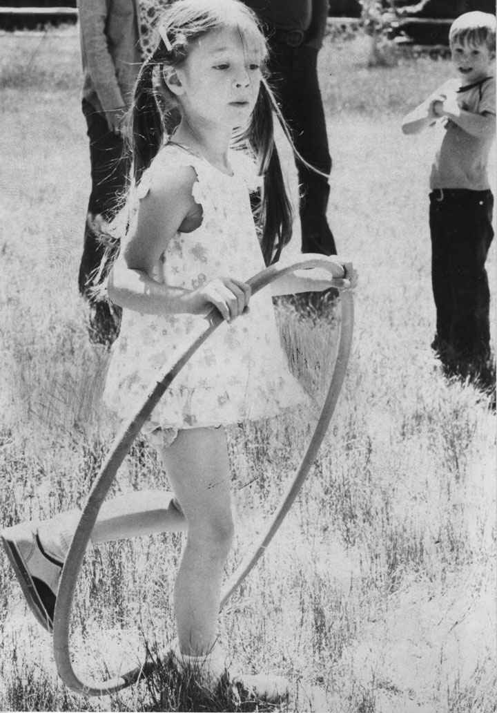 """Jenni Haire, 5, was one of seemingly hundreds of Idyllwild School children who enjoyed a play day at Idyllwild County Park in June 1976. According to Principal Nels Carlson, play day was an """"organized chaos"""" permitted at the end of the term. file Photo"""