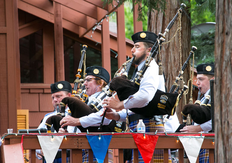 Pipes in the Pines Bagpipers from the University of California, Riverside, perform their annual Pipes in the Pines concert at Alpenglow Garden Friday evening. Photo by Jenny Kirchner