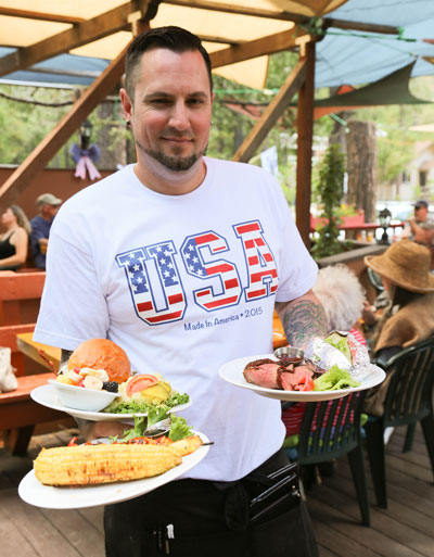Tommy's Kitchen had a tasty Fourth of July barbecue. Photo by Cheryl Bayse