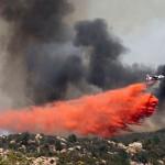 PHOTOS: Monday air attack on Anza Fire