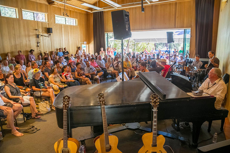 Sunday morning, Jazz Grass, led by pianist Barnaby Finch, filled Stephens Hall. Photo by Jenny Kirchner