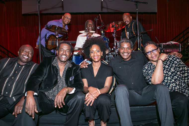 Harold Wherry and his Blue Breeze Band return to wrap the Summer Concert Series with the best of Motown and R&B. Front row, from left, Wherry, Bob Henley III, Laia Jones, Tim Anderson and Tyrone Griffin. Back row, from left, Darryl Bomar, Buster Harrell and Richard Moorings. Photo courtesy Harold Wherry