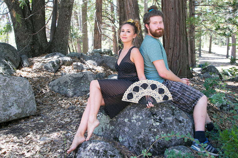 Haley Reinhart and Casey Abrams relax before Sunday's headline performance on the festival's main stage. Photo by Jenny Kirchner