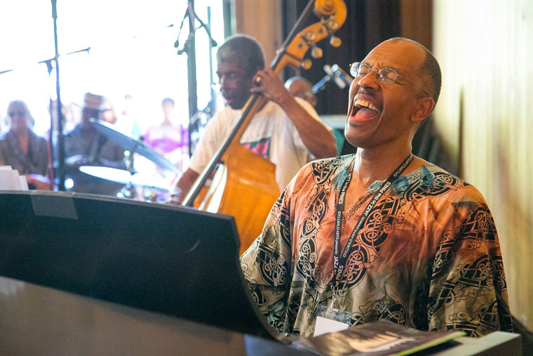 The ever-popular Harry Pickens triumphantly returned to the jazz fest. He performed Saturday afternoon with Marshall Hawkins on bass.Photo by Jenny Kirchner