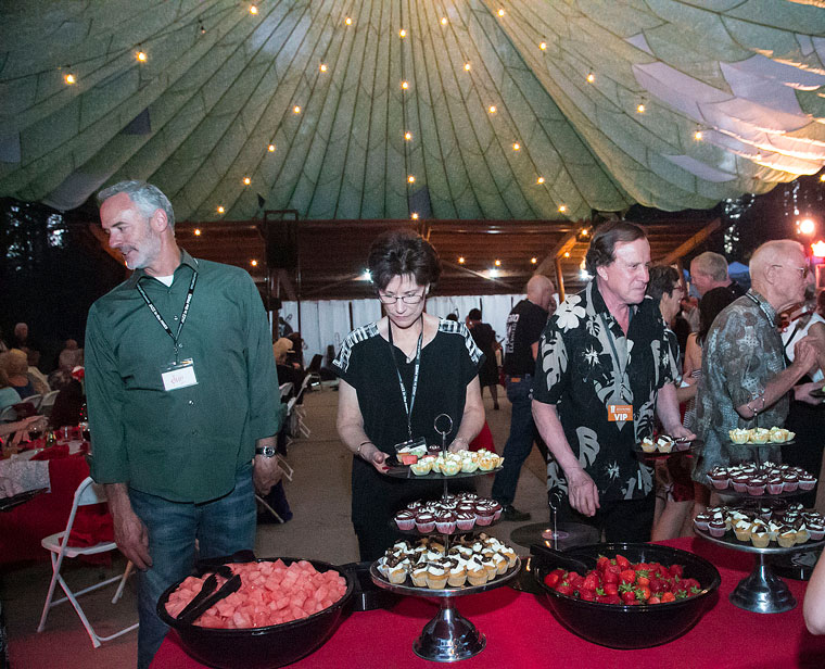 The dessert table was a hit during the annual Patrons Dinner at Idyllwild Arts Friday night.Photo by Jenny Kirchner
