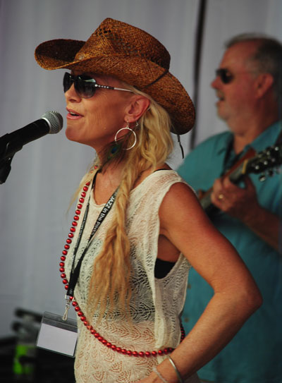 Despite the heat, Ruby (Etoile) Presnell and the Red Hots filled the dance floor at the French Quarter Saturday afternoon.Photo by JP Crumrine