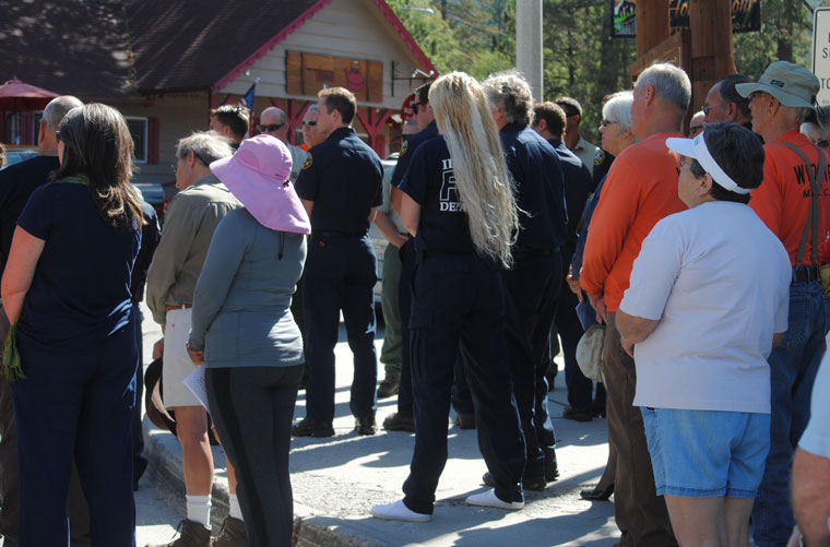Part of the crowd attending the 9-11 Ceremony held in Idyllwild today.