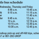 Shuttle service from Pine Cove to Mountain Center and back