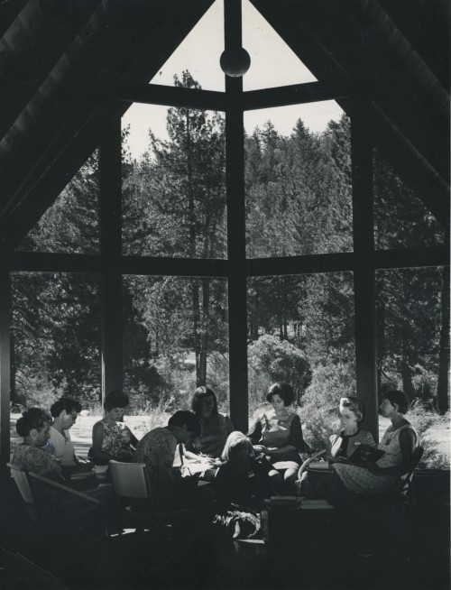 Serenity of the background enhances the spell during ISOMATA's (now Idyllwild Arts) workshops and seminars in this undated photo.Photo by Virginia Garner