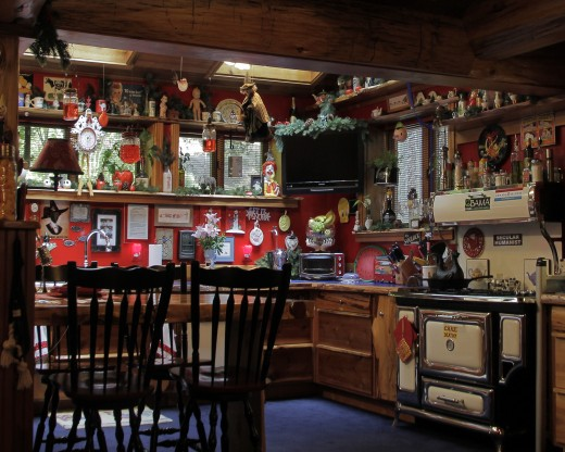 """This is the kitchen at the """"whimsical"""" home on the 15th-annual Home Tour sponsored by the Idyllwild Area Historical Society. Photo by John Drake"""