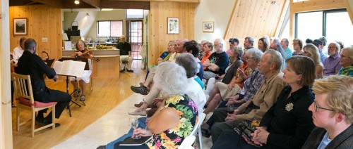 The Associates of the Idyllwild Arts Foundation held a chamber music concert Sunday at a private home in Pine Cove. The Marion View Ensemble performed for nearly 50 attendees.Photo by Jenny Kirchner