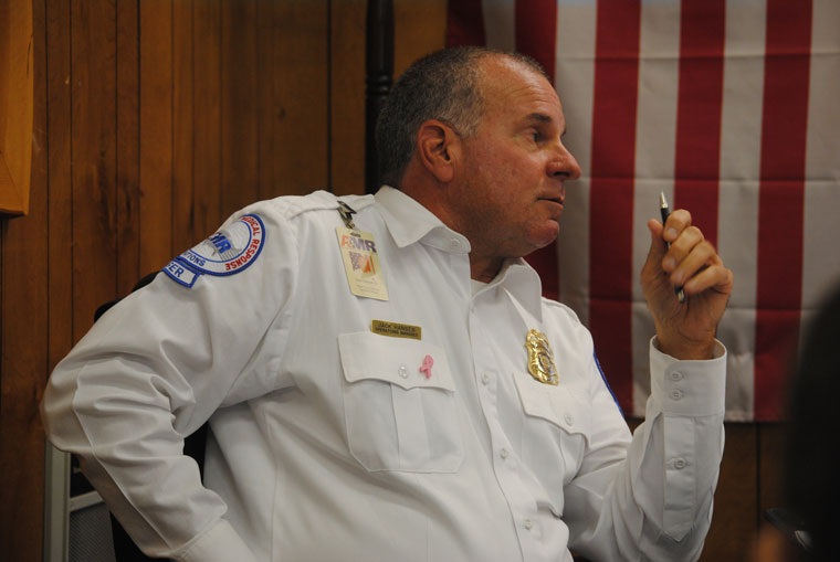 Jack Hansen, operations manager for American Medical Response, attended his first County Service Area 38 meeting on Oct. 14. Photo by JP Crumrine
