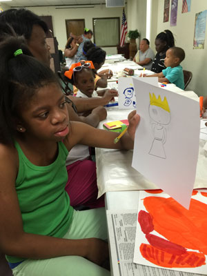 On her return to Baton Rouge in 2015, Leopold again had survivors and their young children draw their experiences. Photo courtesy of Karla Leopold.
