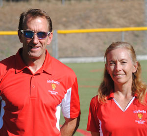 Since 2012, Lee Arnson and Misty Hitchcock's team has grown to 32. Arnson and Hitchcock have coached the Idyllwild Middle School cross-country runners. Photos by JP Crumrine