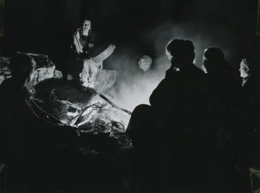 Ataloa at an ISOMATA (now Idyllwild Arts) campfire in 1949. She was a member of the Chickasaw Nation of American Indians. Ataloa was nationally known as an educator in Indian arts and was one of the seven founders of the school's Native American Arts summer program.File photo
