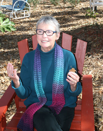 Michèle Marsh, distinguished Idyllwild actor and writer, is Town Crier artist of the week.Photo by Marshall Smith