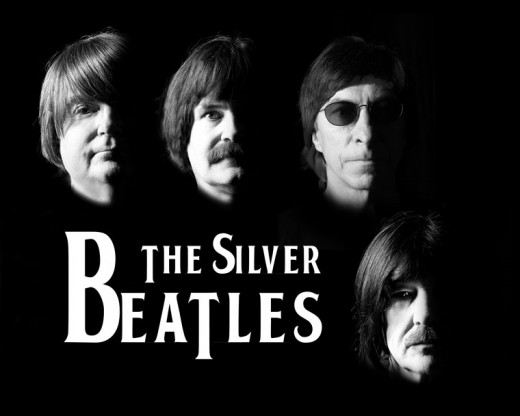 The Silver Beatles Tribute Band plays the Rustic on Friday, Dec. 4. Produced by Mike Vladika, the show begins at 7 p.m., runs to 9 and reprises early to psychedelic Beatle moments in the career of the iconic Fab Four. Photo courtesy Steve Anfinson, Silver Beatles Tribute Band.