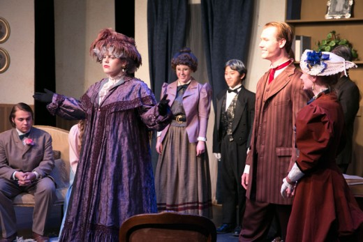 """Idyllwild Arts Academy Theatre Department performed """"The Importance of being Earnest"""" by Oscar Wilde last weekend. Working within the social conventions of late Victorian London, the comic play's major themes are the triviality with which it treats institutions as serious as marriage, and the resulting satire of Victorian ways. Photo by Jenny Kirchner"""