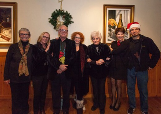 """The Idyllwild Actors Theatre performed """"A Merry, Madcap Christmas"""" Friday and Saturday. Here, cast members pose for a portrait. From left, are Michèle Marsh, Suzanne Avalon, Howard Shangraw, Betty Anderson, Barbara Rayliss, Meg Wolf and Jacob Teel.Photo by Peter Szabadi"""
