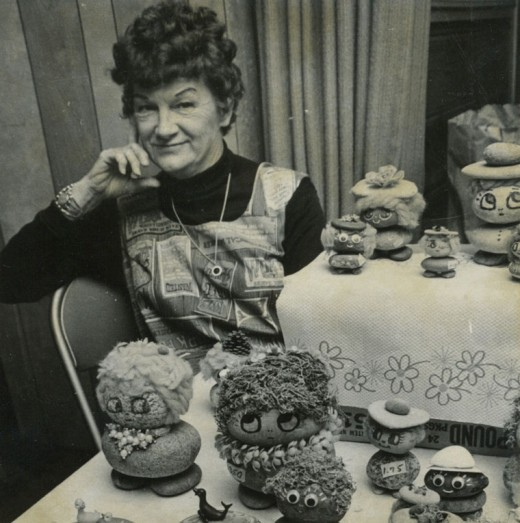 Merrilyn Orr of Pine Cove at the November 1973 Rotary Club Harvest Festival. The collection of handcrafted sales in Town Hall had become a third-year tradition. File photo