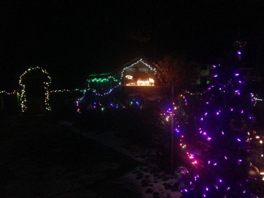 Paul and Merrie VonSeggern's house at the corner of McMahon and Middle Ridge is a Christmas sight worth viewing at night. The house is festooned with about 3,600 lights. Photo by Becky Clark