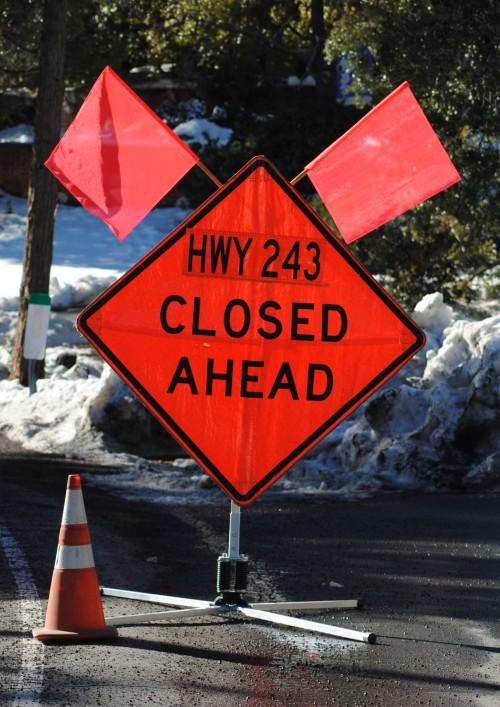Highway 243 is closed
