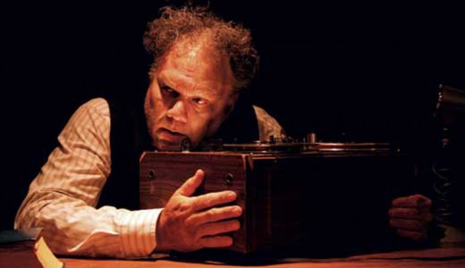 """Artist of the week J. Barrett Cooper seen here in a production of """"Krapp's Last Tape,"""" staged by his company, the Savage Rose Classical Theatre Company, of Louisville.Photo by Harlan Taylor"""