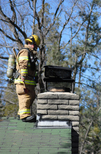 On Wednesday, Jan. 20, Idyllwild Fire Department responded to billowing smoke coming from a house on Strawberry Valley Drive. Fire Chief Patrick Reitz said there was no house fire, just a cold fire in a wood stove. Photo by JP Crumrine