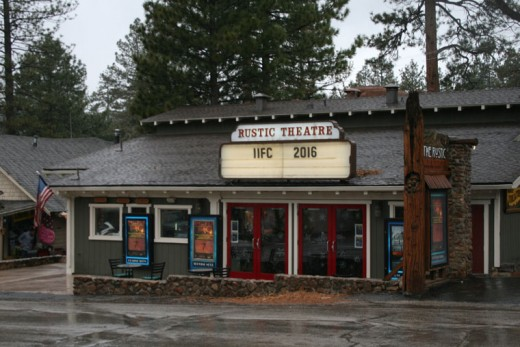 Year seven of the Idyllwild International Festival of Cinema saw rain and predicted snow. The festival has a new meet and greet headquarters just across from the Rustic Theatre, the festival's premiere primary site. Photo by Marshall Smith