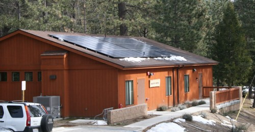 Akaloa Health Center on the Idyllwild Arts campus is the first commercial building in Idyllwild to be Leadership in Energy and Environmental Design-certified. An important component of the LEED certification by the U.S. Green Building Council was the installation of solar panels on the Health Center roof.Photo by Marshall Smith