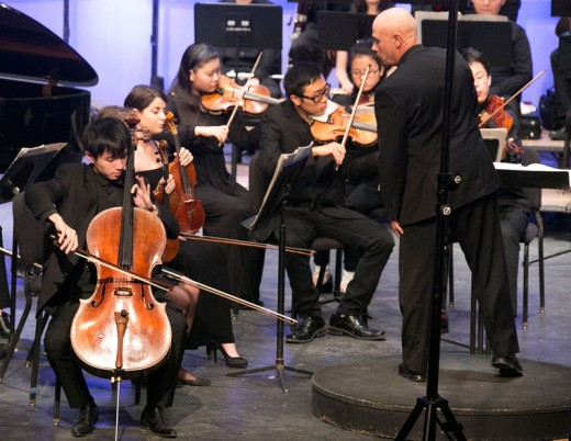 Idyllwild Arts held a first-time Intermester orchestra concert Saturday afternoon on campus. The students had four days to prepare and learn the three concert pieces, which they performed with grandeur.Photo by Jenny Kirchner