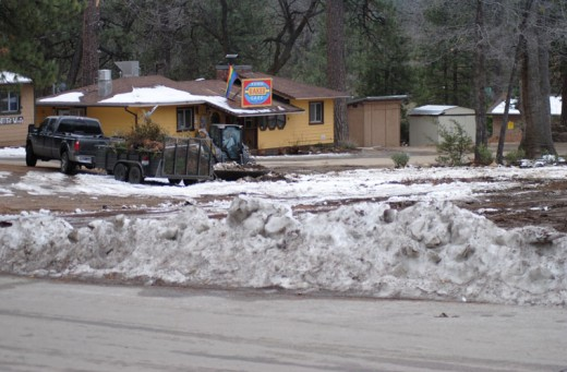 Idyllwild businessman Shane Stewart is rapidly building a public parking lot for visitors to Idyllwild on his recent property acquisition along Cedar Street and N. Circle Drive. Paving was expected to begin on Tuesday. Photo by JP Crumrine