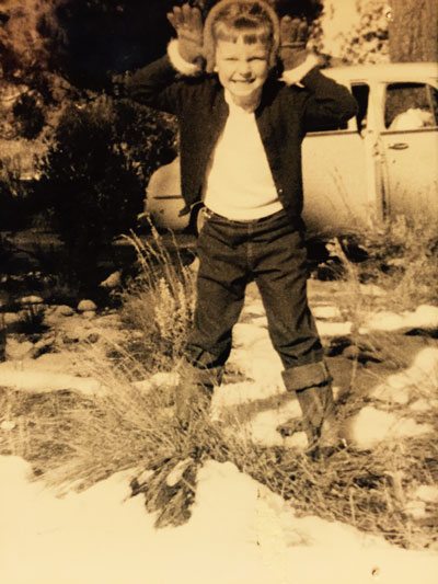 Nanci (McElfresh) Killingsworth, age 6, visiting Idyllwild in 1954. She and husband Ben are full-time Idyllwild residents and volunteers.Photo courtesy the killingworths