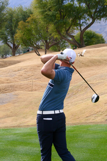 Brendan Steele was back in the swing in the CareerBuilder Challenge after a long year-end lay off. This week he takes on the Torrey Pines courses in La Jolla at the Farmers Insurance Open.Photo by Jack Clark