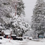 Snow arrived, plenty of it, Idyllwild still open