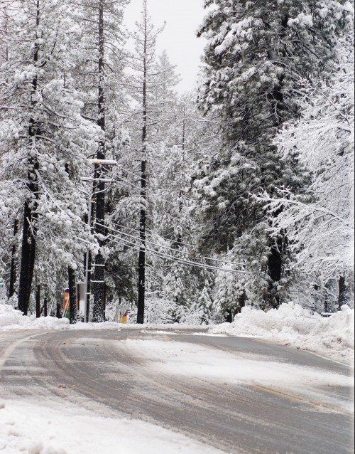 Highway 243 as it enters the business portion of Idyllwild