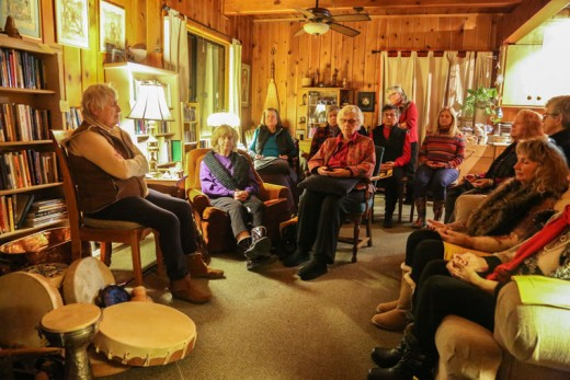 On Saturday, Spirit Mountain Retreat held a wisdom fire to celebrate and reflect on the arrival of the New Year and its opportunities.Photo by Cheryl Basye