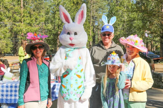 Easter bonnets were on display Saturday at the annual Easter Egg Hunt held at the Idyllwild Community Center site. Photo by Cheryl Basye