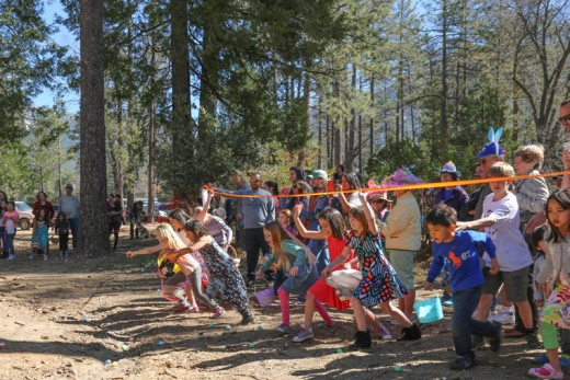 And the children begin their hunt for hundreds of Easter eggs last Saturday at the Idyllwild Community Center site.Photo by Cheryl Basye