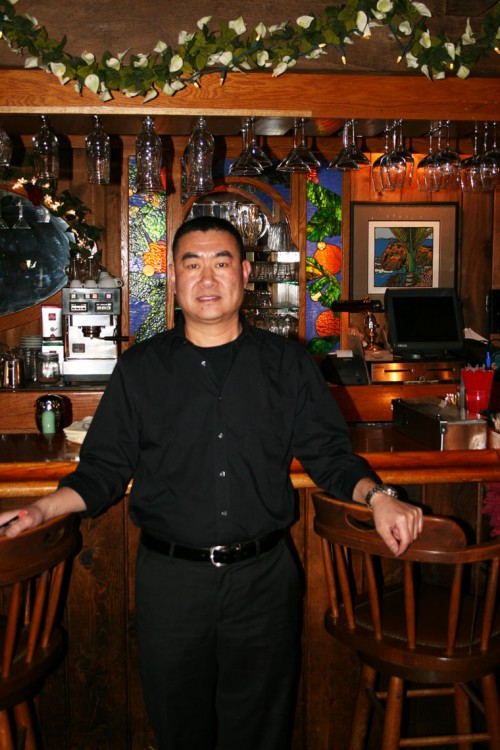 """Zhen """"Edmund"""" Yang is the new owner of the Gastrognome, one of Idyllwild's most established restaurants, having served the community for over 40 years. Yang bought the Gastrognome from longtime owners Lanny and Jane Wagstaff. Yang plans to preserve the current business model and menu while augmenting it with occasional new entrees and appetizers. Photo by Marshall Smith"""