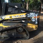 Tree removal equipment vandalized
