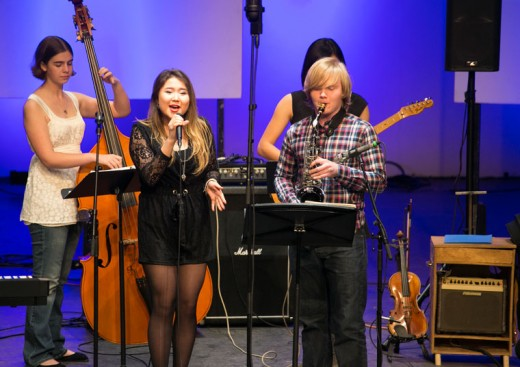 Idyllwild Arts Jazz Concert was a hit on Tuesday night at the IAF Theatre. It was the first student jazz concert of 2016.Photo by Jenny Kirchner